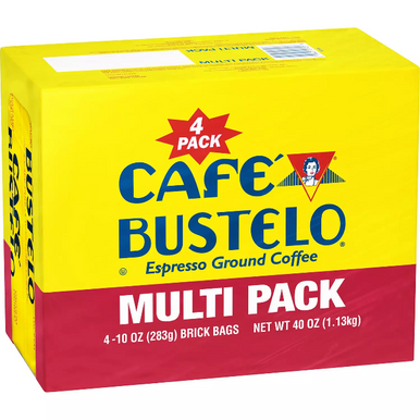 Cafe Bustelo Espresso Ground Coffee, 10 oz. (4 pack)