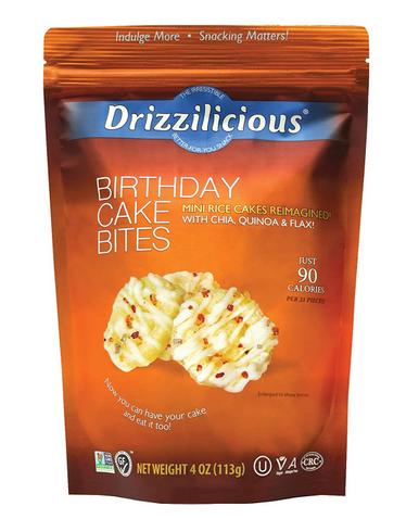 Drizzilicious Birthday Cake Bites, 4 oz.
