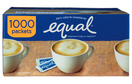 Equal Zero Calorie Sweetener Packets, 1,000 ct.