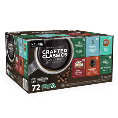 Keurig K-Cup Pods Crafted Classics Collection Variety Pack, 72 ct.