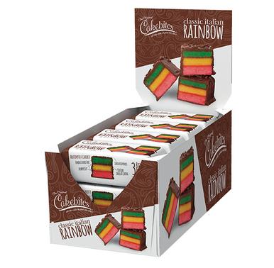 Original Cakebites Classic Italian Rainbow Individual Grab & Go Packs 2 oz. (12 Pack)