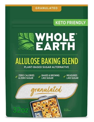 Whole Earth Allulose Baking Blend Zero Calorie Sugar Alternative Sweetener, 32 oz.