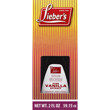 Lieber's Pure Vanilla Extract Kosher for Passover, 2 fl oz