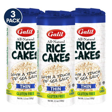 Galil Rice Cakes With Sea Salt Thin Salted Rice Cakes Kosher for Passover