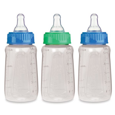 First Essentials by NUK 5 oz. Slow Flow Baby Bottles in Blue/Green, 3 Pack