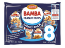 Osem Bamba Peanut Snacks for Babies - All Natural Baby Peanut Puffs Family Pack (Pack of 8 x 0.7oz Bags) - Peanut Butter Puffs made with 50% peanuts