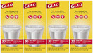 Glad Small Garbage Bags, 4 Gallon Bags, 4 - 30 Count (120 Total)