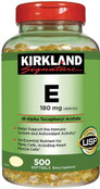 Kirkland Signature Vitamin E 180 mg., 500 Softgels