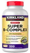 Kirkland Signature Super B-Complex with Electrolytes, 500 Tablets