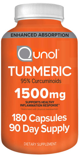 Qunol Turmeric 1,500 mg., 180 Capsules