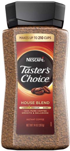 Nescafé Taster's Choice Instant Coffee, House Blend, 14 oz