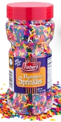 Lieber's Rainbow Sprinkles Tasty Colorful, Jimmies Are A Great Dessert Topping For Cooking, Baking & Decorating Ice Cream, 11oz