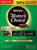 Nescafe Taster's Choice Decaf Instant Coffee House Blend 16 count