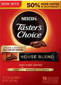 Nescafe Taster's Choice Instant Coffee House Blend Singles 18 count