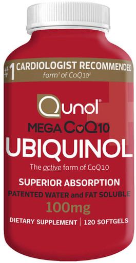 Qunol Mega CoQ10 Ubiquinol 100 mg., 120 Softgels