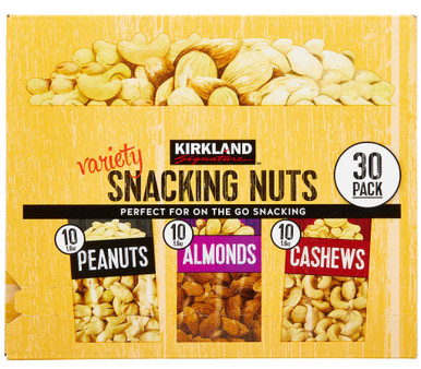 Kirkland Signature Snacking Nuts, Variety Pack, 1.6 oz, 30 count
