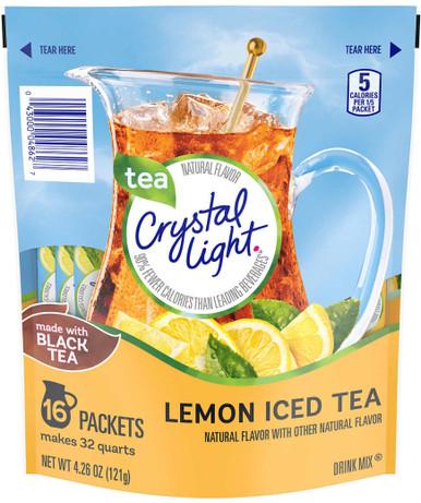 Crystal Light Drink Mix, Lemon Iced Tea, 16 count