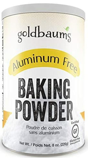 Goldbaums Baking Powder, Aluminum Free, Certified Gluten Free Baking Powder, with Zero Cholesterol and Carbohydrates, Kosher Certified Bake Powder for Cooking, 8 Ounce