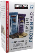 Kirkland Signature Protein Bars Cookie Dough and Chocolate Brownie, 20 Count