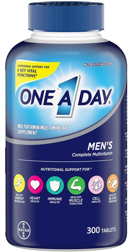 One A Day Men's Multivitamin, 300 Tablets
