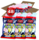 Lieber's Cotton Candy, Light & Fluffy Vintage Candy, Blue & Red Carnival, holloween, Birthday Party Favors Treats Supplies for Kids, Kosher, 0.8 Ounce Bag (Pack of 48)