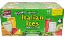 Lieber's Wyler's Italian Ices Original Flavors, Kosher, Gluten-Free, Fat-Free Italian Ices, 80 Ounce Box