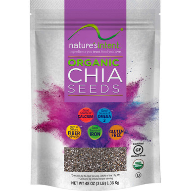 Nature's Intent Organic Chia Seeds, 48 oz