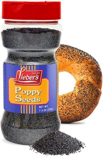 Lieber's Poppy Seeds, Natural Poppy Seeds for Baking, Poppy Seed Pack for Cooking, Whole Large Poppy Seeds for Cake, Buns, Bagels, Rolls, Premium Bulk Poppy Seeds, 7.5 oz