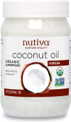 Nutiva Organic Cold-Pressed Virgin Coconut Oil, USDA Organic, Non-GMO, Fair Trade, Whole 30 Approved, Vegan, Keto, Fresh Flavor and Aroma for Cooking & Healthy Skin and Hair, 15 Fl Oz