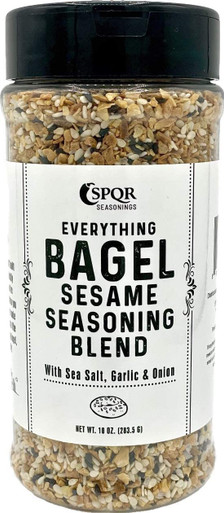 SPQR Seasonings Everything Bagel Seasoning Blend Original Delicious Blend of Sea Salt and Spices Dried Minced Garlic Onion Flakes, 10 oz