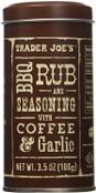Trader Joe's BBQ Rub and Seasoning with Coffee & Garlic, 3.5 oz