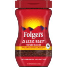 Folgers Instant Coffee Crystals, Classic Roast, 16 oz
