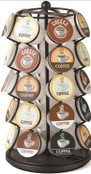 Nifty Coffee Pod Carousel – Compatible with K-Cups, 35 Pod Pack Storage, Spins 360 Degrees, Lazy Susan Platform, Modern Black Design, Home or Office Kitchen Counter Organizer