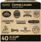 Keurig Coffee Lovers Collection Variety Pack, Single Serve Coffee K Cup Pods Sampler, 40 Count