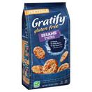 Gratify Gluten Free Sesame Pretzel Thins, 10.5 oz