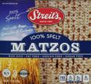 Streit's 100% White Spelt Matzos, 11 oz.