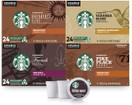 Starbucks Black Coffee K Cup Coffee Pods, Variety Pack