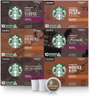 Starbucks Black Coffee K Cup Coffee Pods, Variety Pack for Keurig Brewers, 6 boxes (60 pods total)