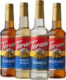 Torani Variety Pack Caramel, French Vanilla, Vanilla & Hazelnut, 25.4 Ounces