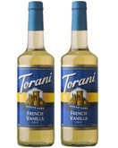 Torani Sugar Free French Vanilla Syrup, 25.4 Ounce (Pack of 2)