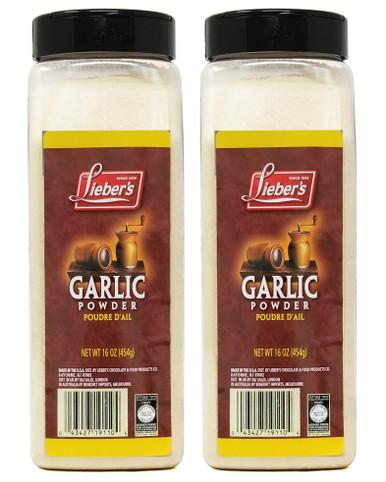 Lieber's Garlic Powder, 16 oz (Pack of 2)