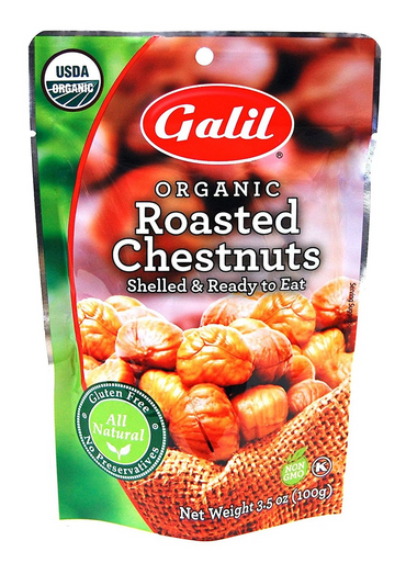 Galil Organic Roasted Chestnuts, 3.5 oz 3 pack