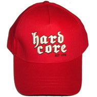 Hardcore Tombstone Hat Red Flexfit OSFA