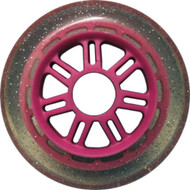 100mm 88a Scooter Wheel Glitter/Pink 7 Spoke Hub