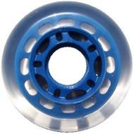 Inline wheel - Clear / Blue 68mm 78a 5 Spoke