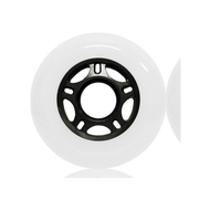 Inline wheel - White / Black 72mm 89a