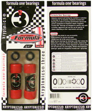 Kryptonics Formula One Abec 3 Bearings Packaged 16pcs