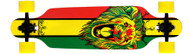 "Krown - Elite Drop Through Rasta Lion 36"" (Yellow Wheels)"