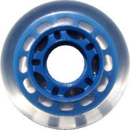 Inline Wheel - Clear / Blue 76mm 78a