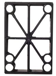 """H-Block Riser Pad (Individual) - 1/2"""" Black Plastic"""